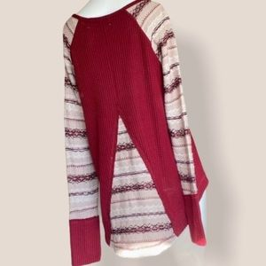 The Nines red detailed sweater small